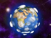 地球トゥーン 3d model