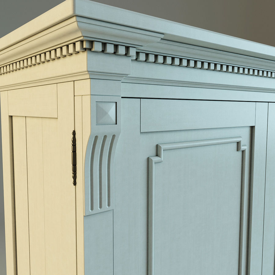 St.James Armoire royalty-free 3d model - Preview no. 11