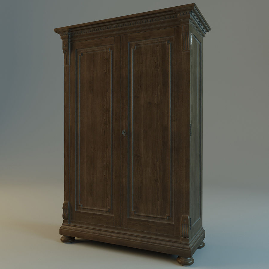 St.James Armoire royalty-free 3d model - Preview no. 5
