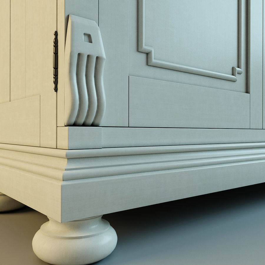 St.James Armoire royalty-free 3d model - Preview no. 13