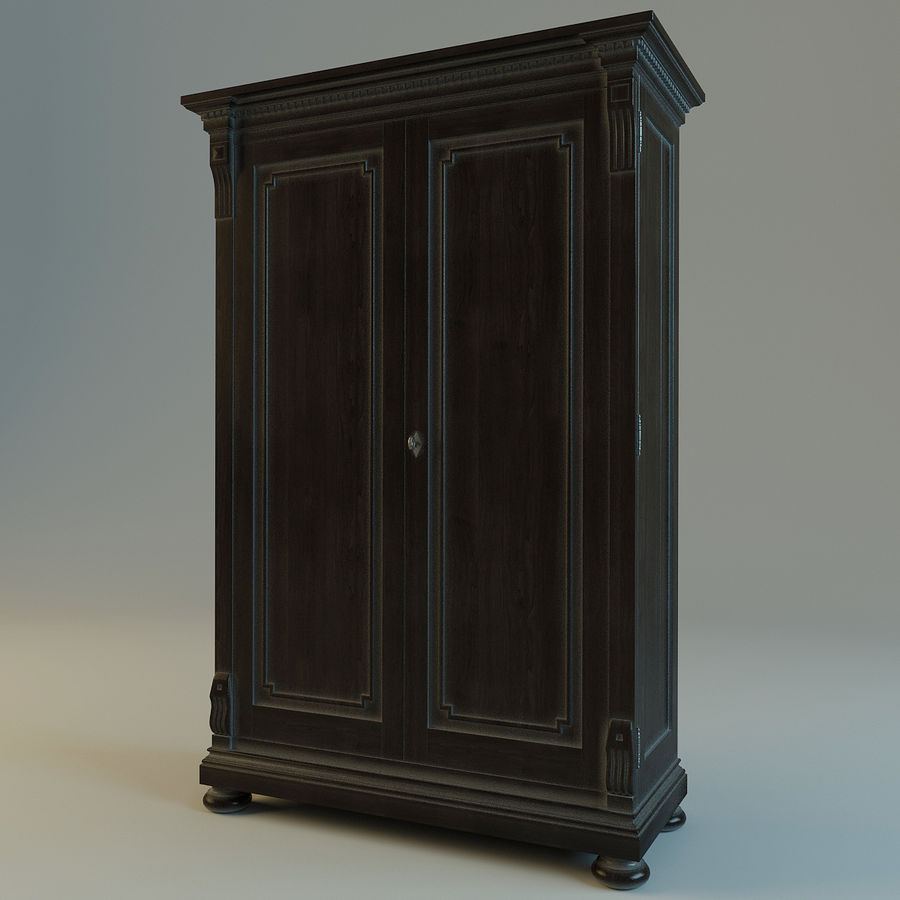 St.James Armoire royalty-free 3d model - Preview no. 6