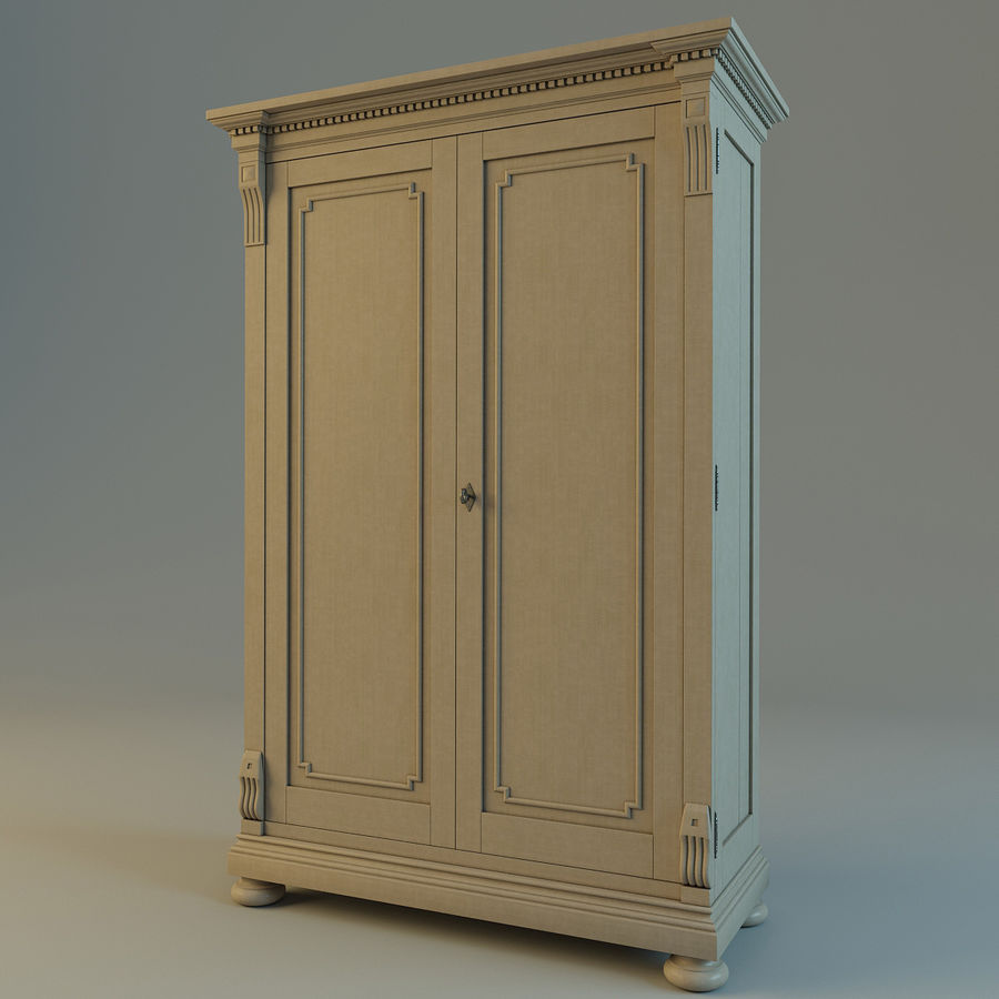 St.James Armoire royalty-free 3d model - Preview no. 3