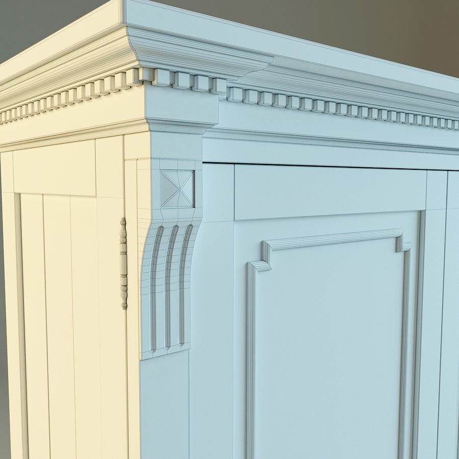 St.James Armoire royalty-free 3d model - Preview no. 12