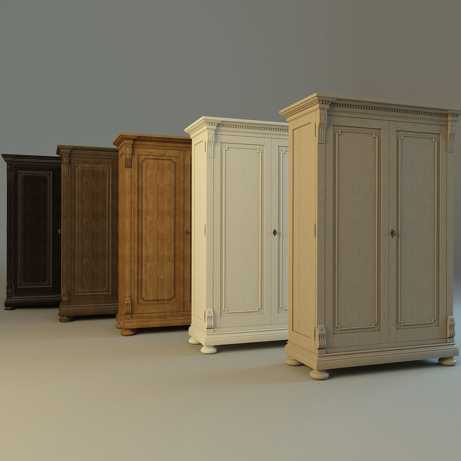 St.James Armoire royalty-free 3d model - Preview no. 2