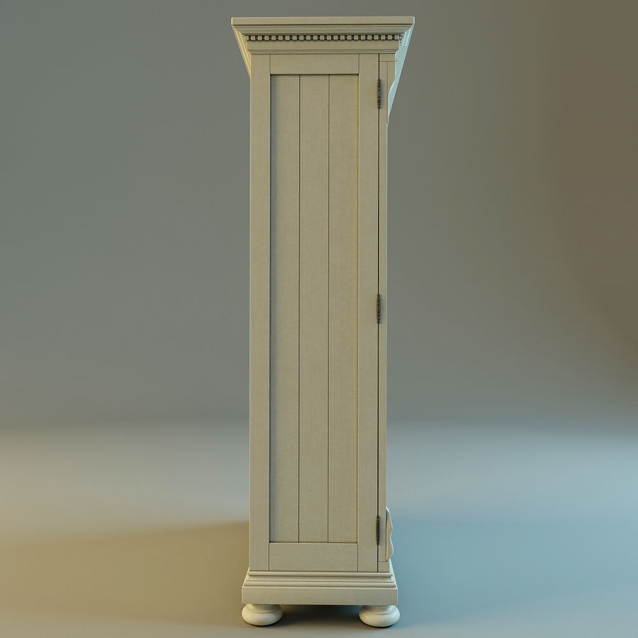 St.James Armoire royalty-free 3d model - Preview no. 9
