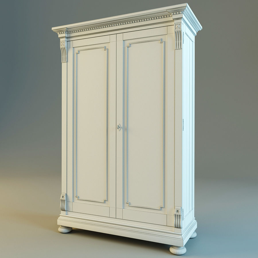 St.James Armoire royalty-free 3d model - Preview no. 7