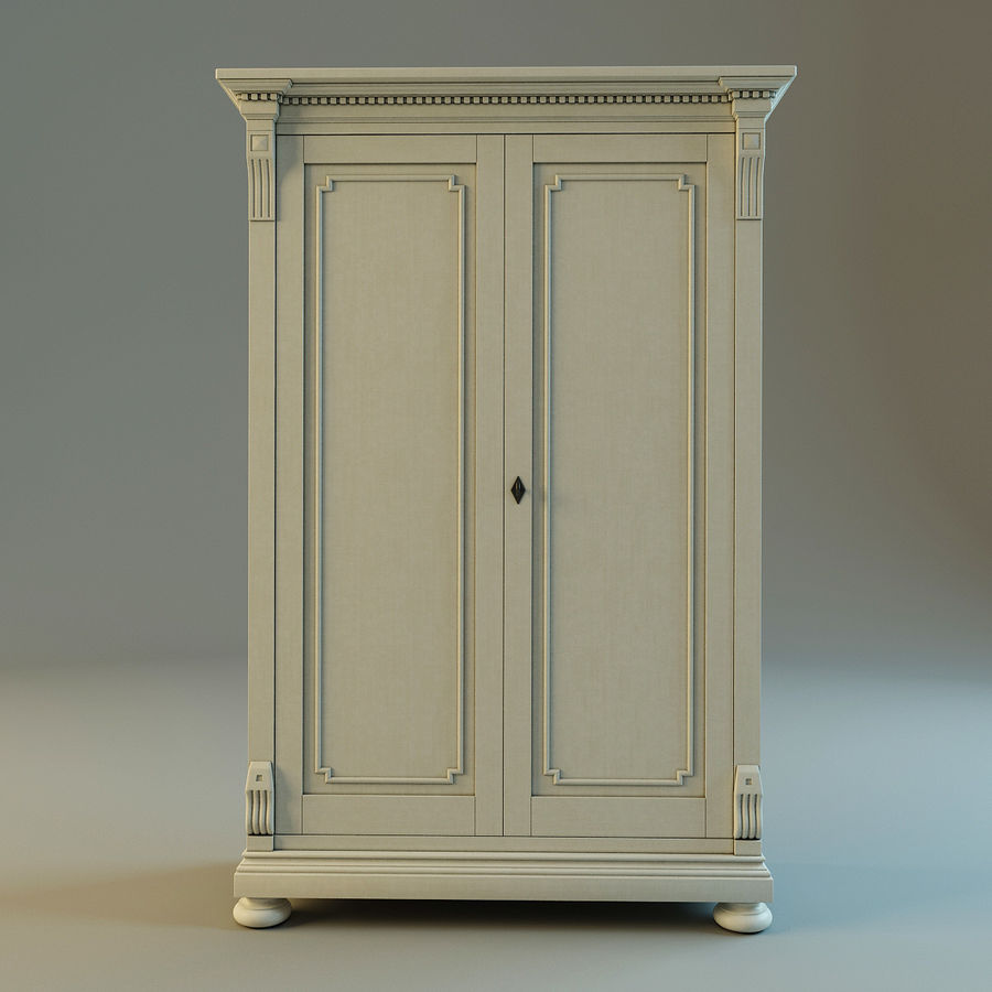 St.James Armoire royalty-free 3d model - Preview no. 8