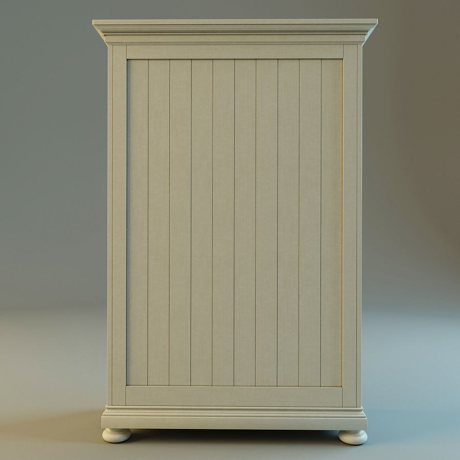 St.James Armoire royalty-free 3d model - Preview no. 10