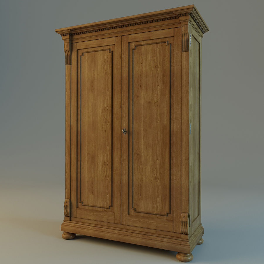 St.James Armoire royalty-free 3d model - Preview no. 4