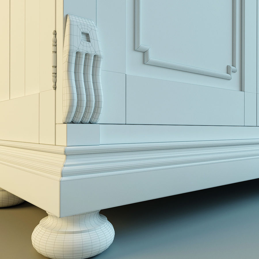 St.James Armoire royalty-free 3d model - Preview no. 14