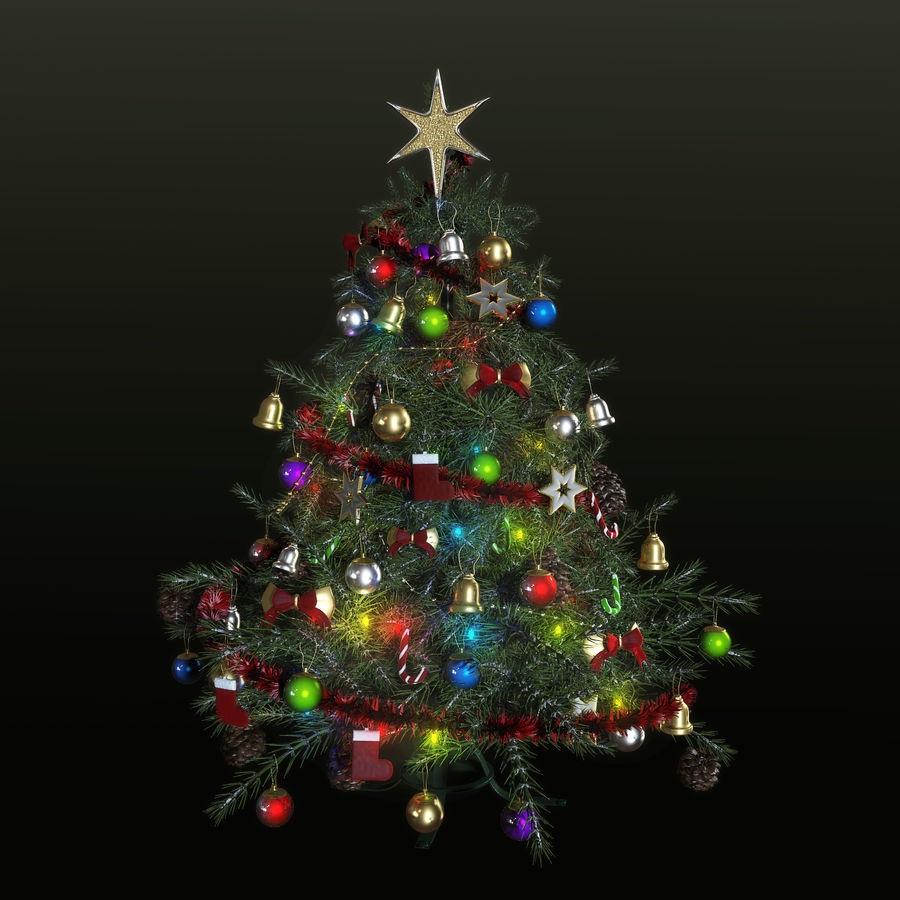 Weihnachtsbaum royalty-free 3d model - Preview no. 2