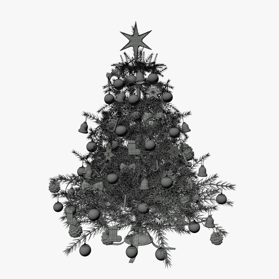 Weihnachtsbaum royalty-free 3d model - Preview no. 9