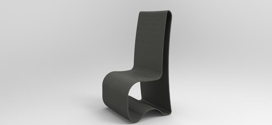 sandalye modeli royalty-free 3d model - Preview no. 4