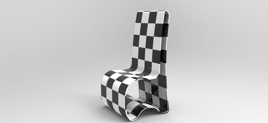 sandalye modeli royalty-free 3d model - Preview no. 3