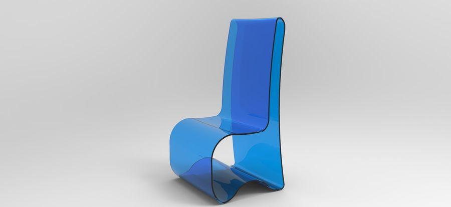 sandalye modeli royalty-free 3d model - Preview no. 5
