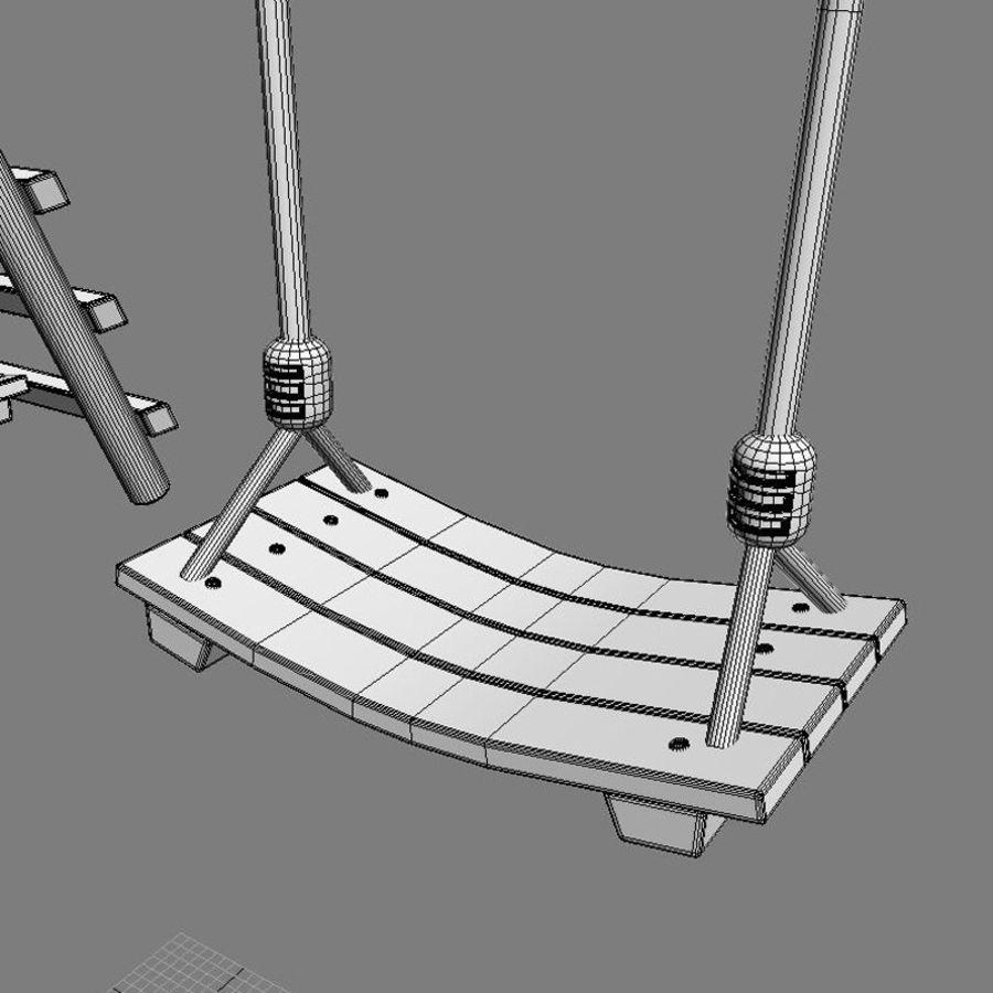 Yard Salıncak royalty-free 3d model - Preview no. 3