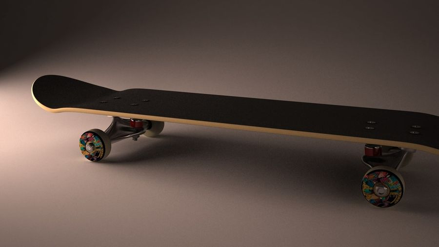 Skate Board royalty-free 3d model - Preview no. 2