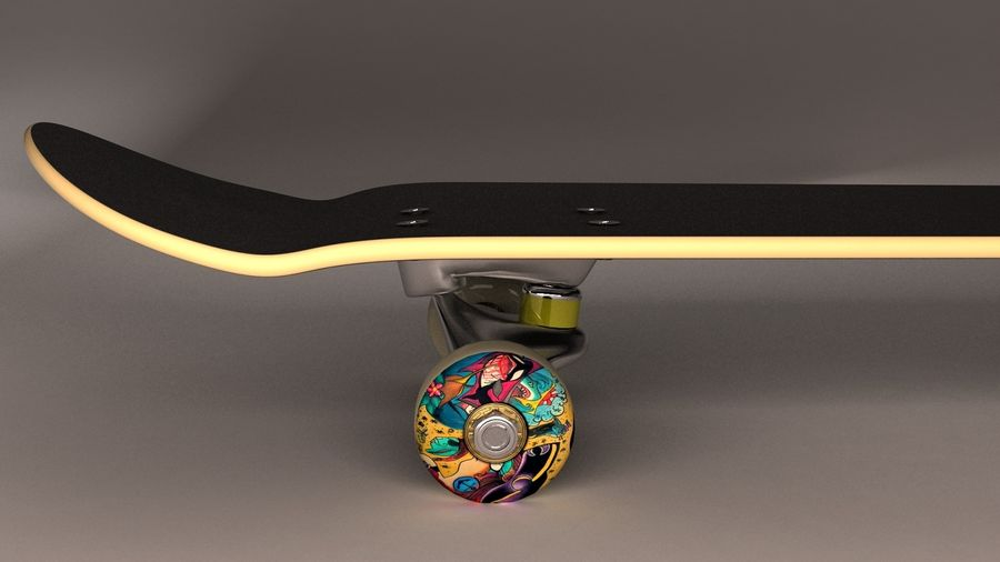Skate Board royalty-free 3d model - Preview no. 3