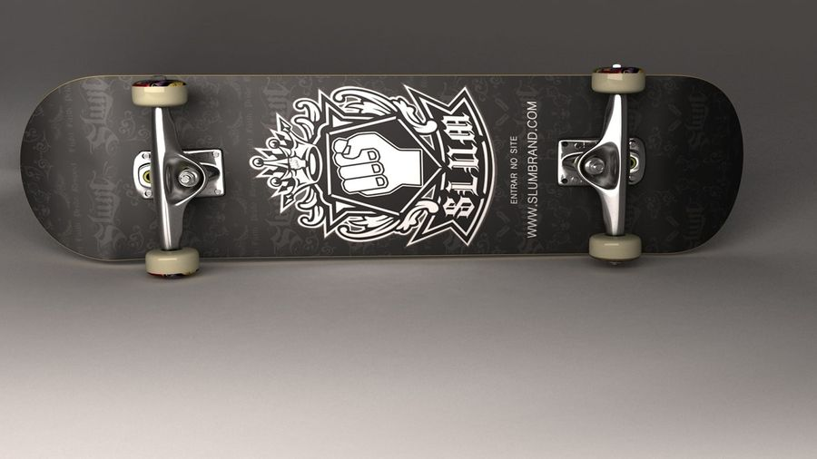 Skate Board royalty-free 3d model - Preview no. 4