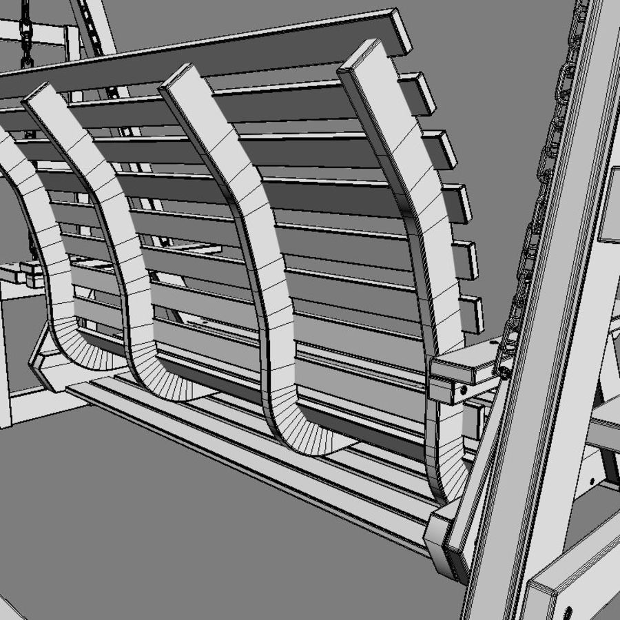 Yard Salıncak royalty-free 3d model - Preview no. 6