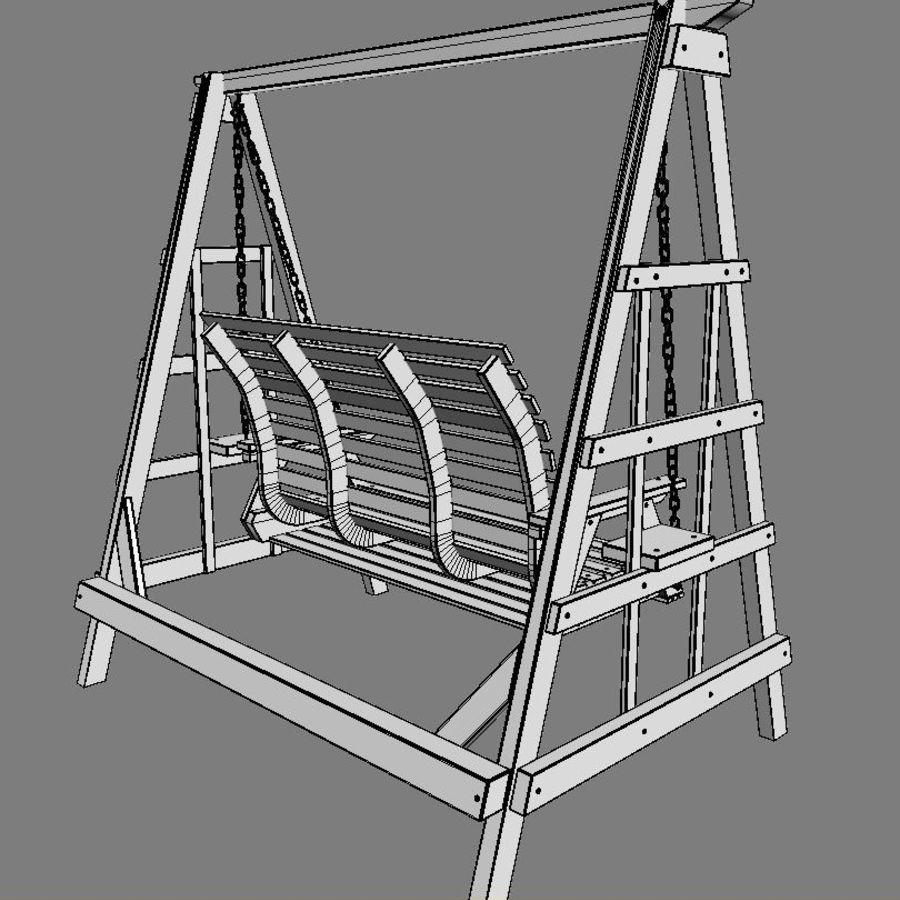 Yard Salıncak royalty-free 3d model - Preview no. 8