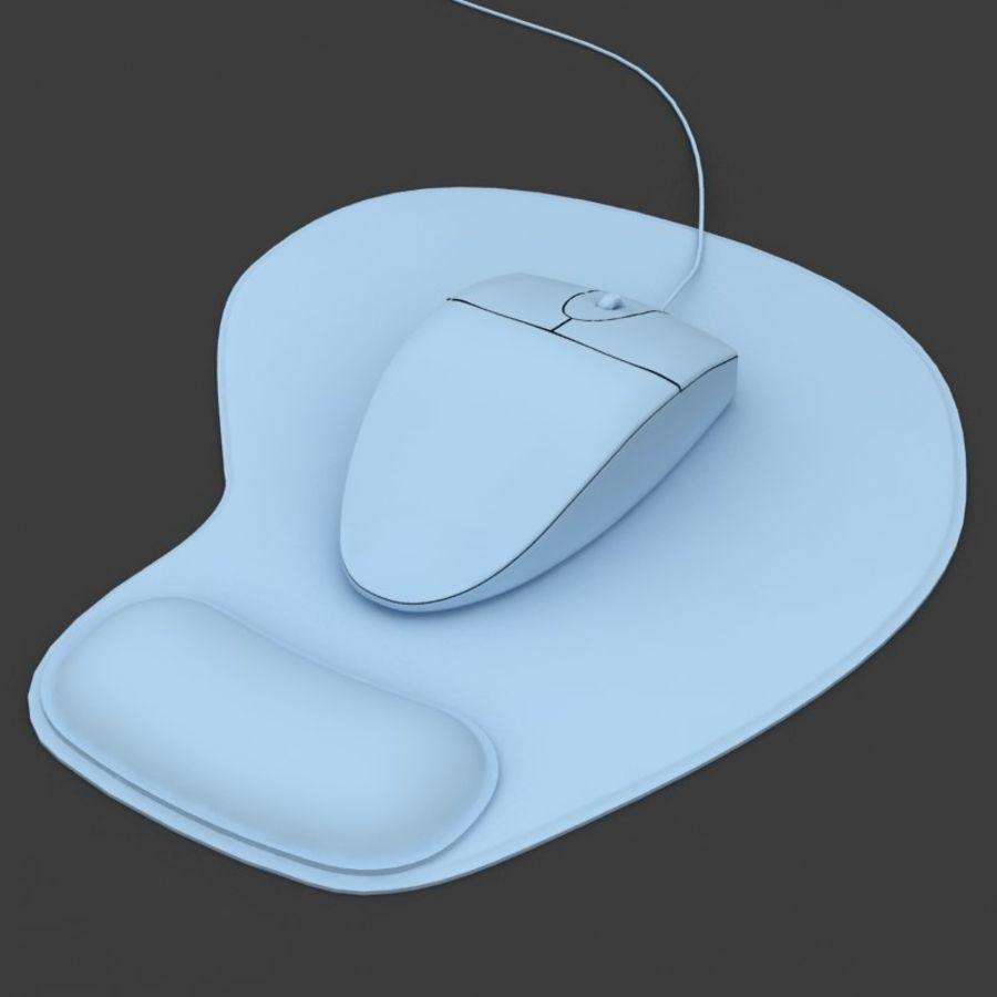 Mysz i podkładka pod mysz royalty-free 3d model - Preview no. 5