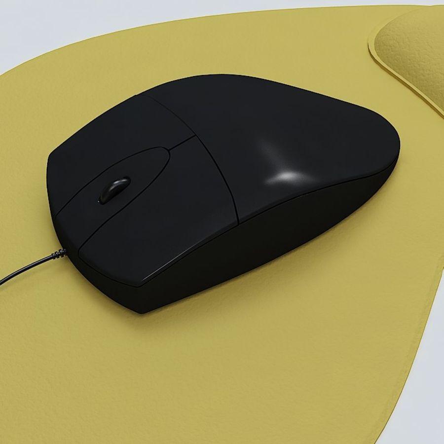 Mysz i podkładka pod mysz royalty-free 3d model - Preview no. 3