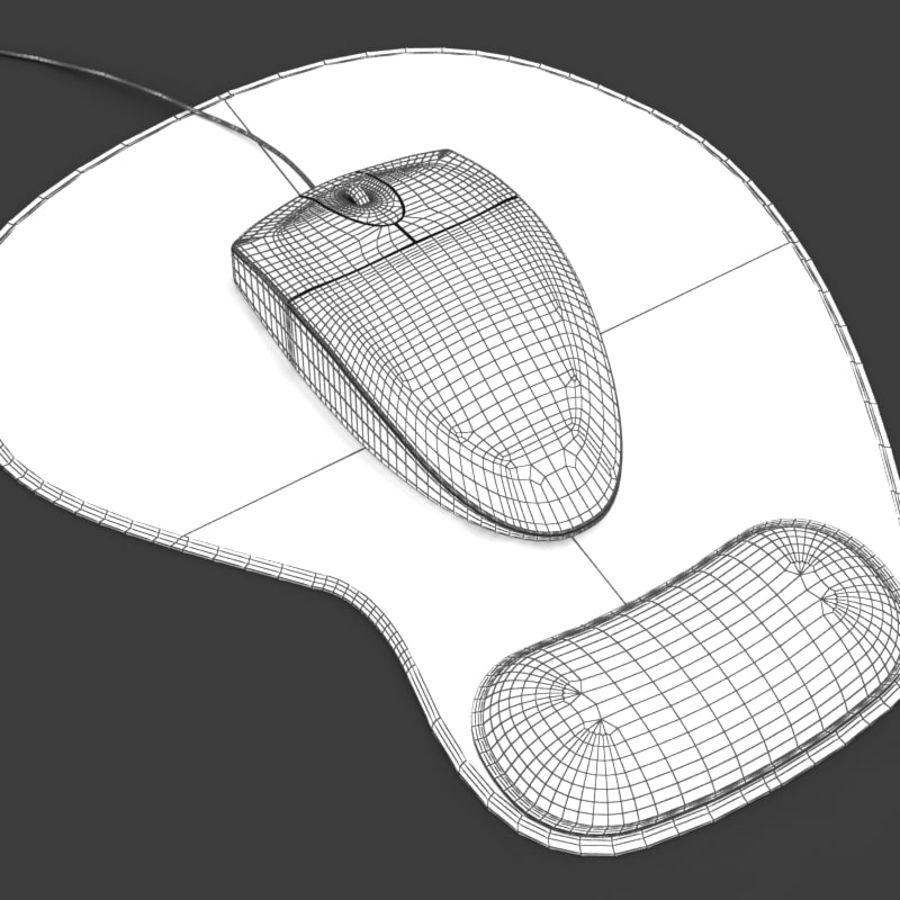 Mysz i podkładka pod mysz royalty-free 3d model - Preview no. 6