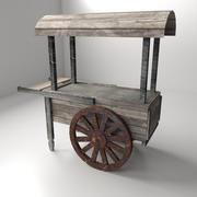 Stary wózek z jedzeniem 3d model