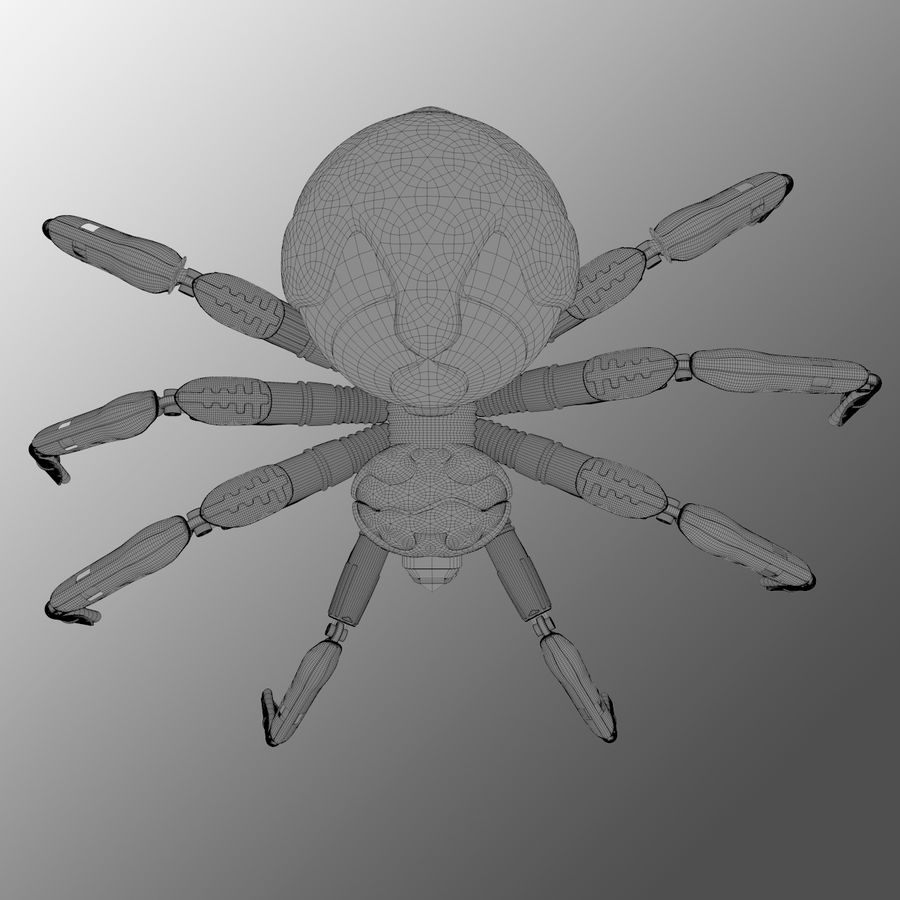 Robot Spider H-Light royalty-free 3d model - Preview no. 4