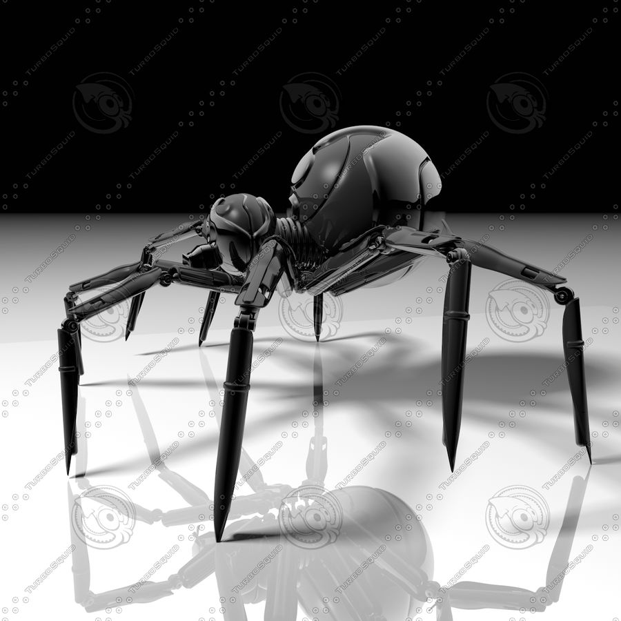 Robot Spider H-Light royalty-free 3d model - Preview no. 2