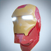 elmetto iron man 3d model