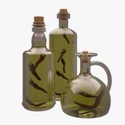 Bottiglie Di Olio Di Oliva 3d model