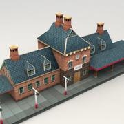 기차역 3d model