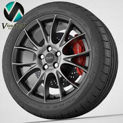 Wiel Anzio Vision 3d model