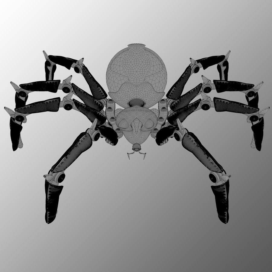 Robot Spider FG50 royalty-free 3d model - Preview no. 4