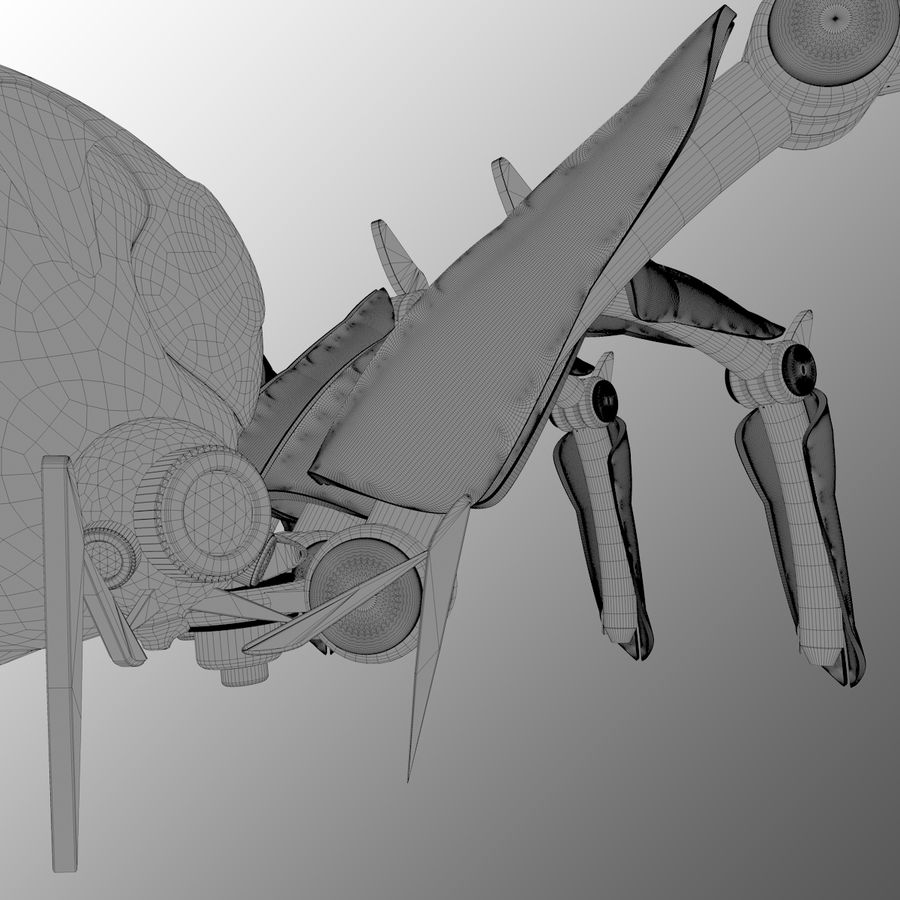 Robot Spider FG50 royalty-free 3d model - Preview no. 5