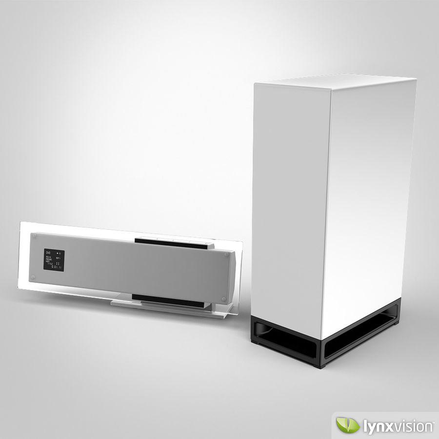 Sony Bravia Home Theater royalty-free 3d model - Preview no. 2