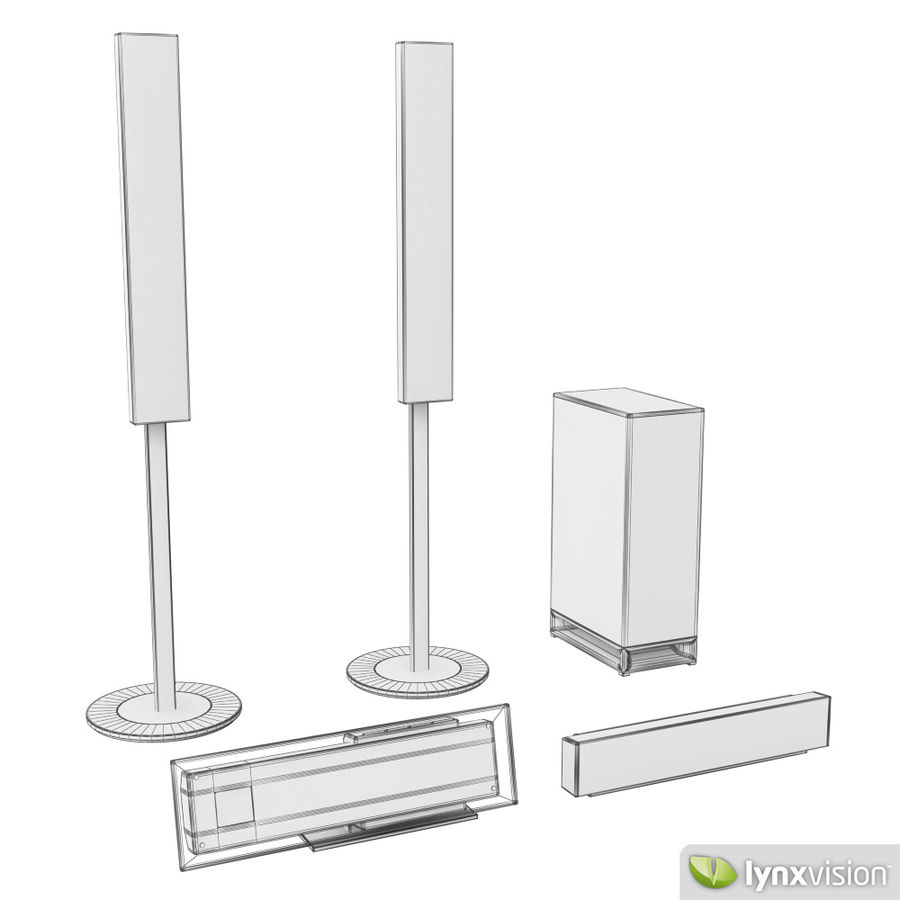 Sony Bravia Home Theater royalty-free 3d model - Preview no. 4