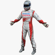 Racing Driver Toyota 3d model