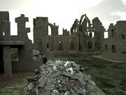 Ruina de la ciudad modelo 3d