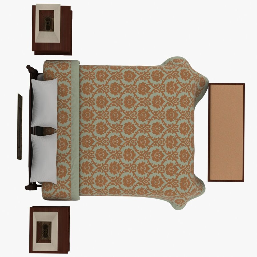 Мебель для спальни royalty-free 3d model - Preview no. 10