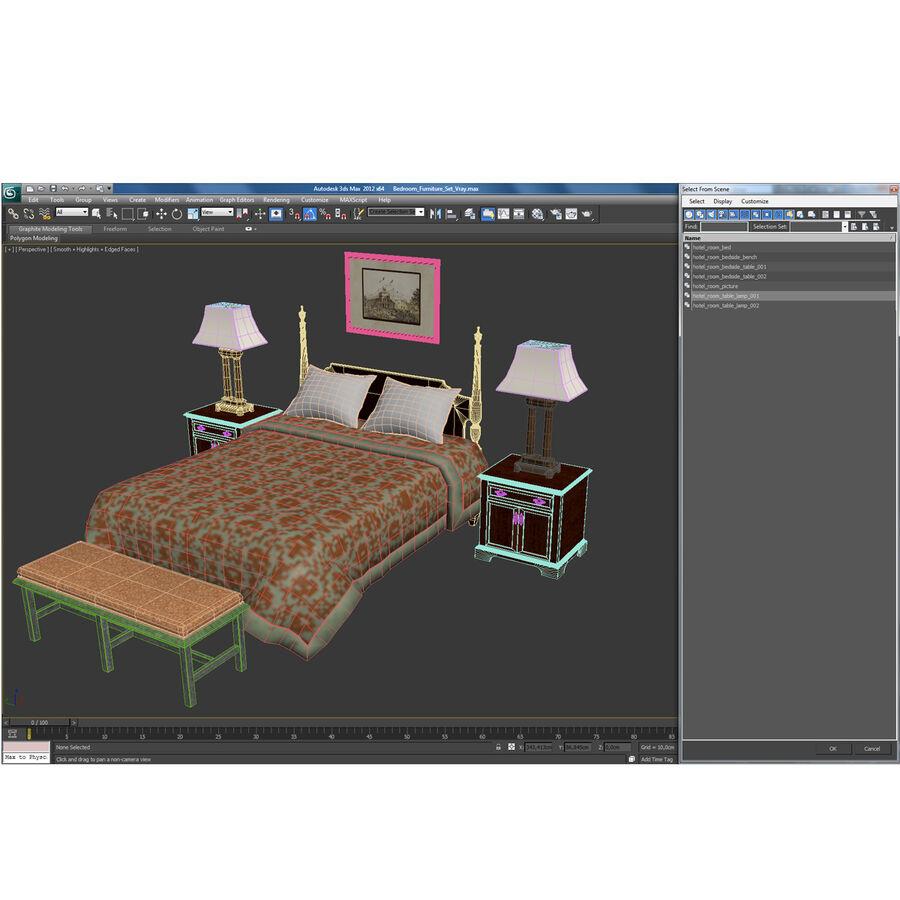 Мебель для спальни royalty-free 3d model - Preview no. 36