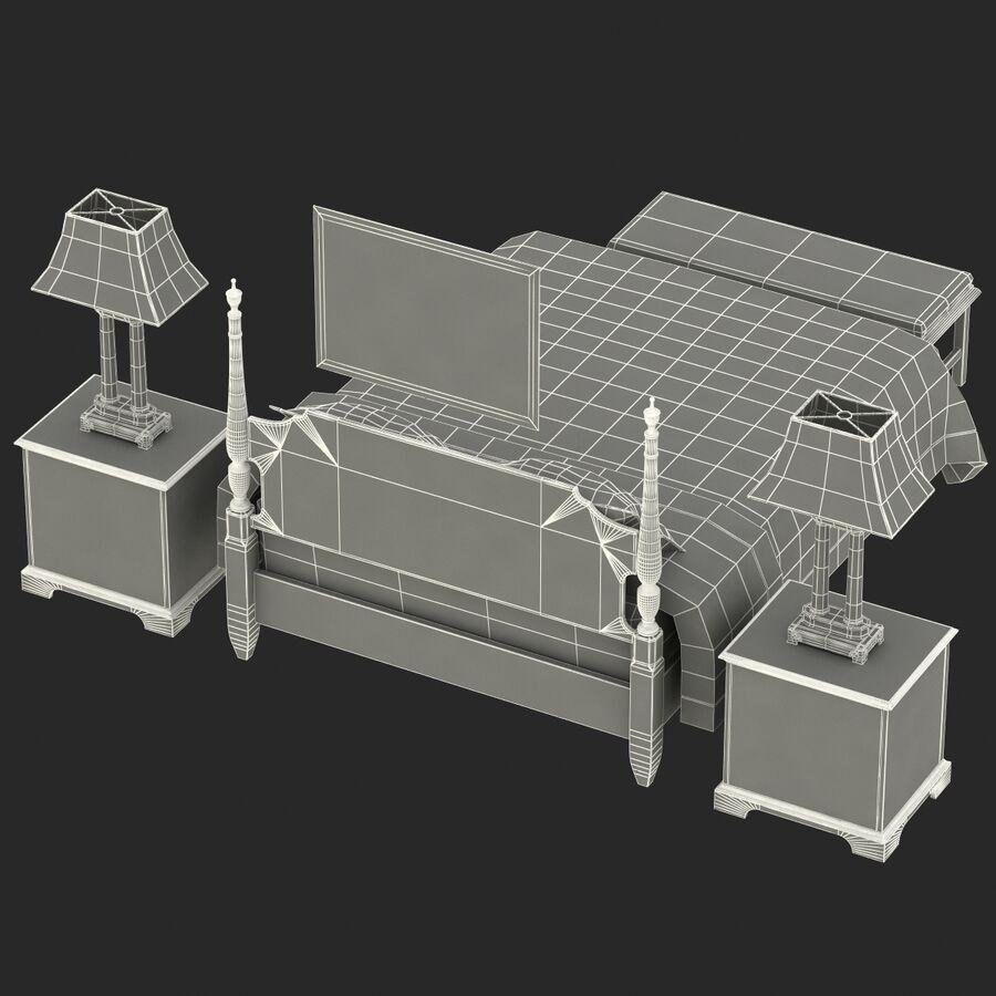 Мебель для спальни royalty-free 3d model - Preview no. 14