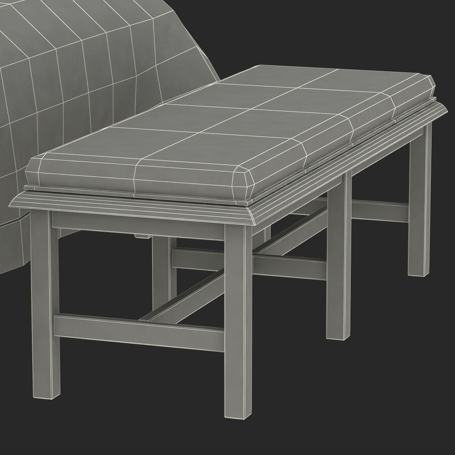 Мебель для спальни royalty-free 3d model - Preview no. 22