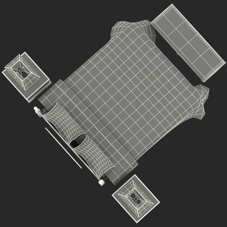 Мебель для спальни royalty-free 3d model - Preview no. 21