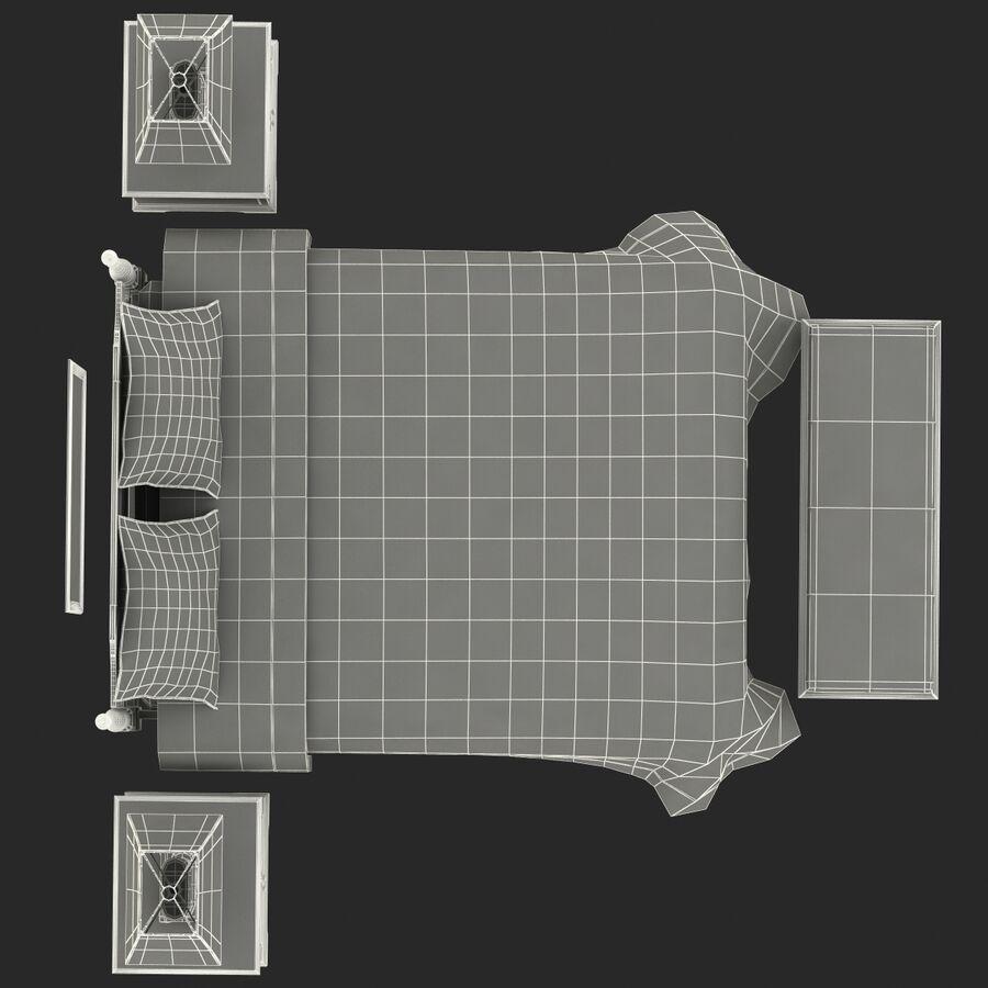 Мебель для спальни royalty-free 3d model - Preview no. 20
