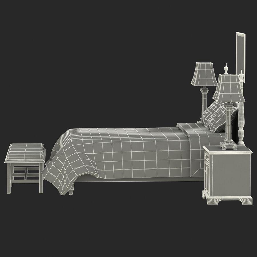 Мебель для спальни royalty-free 3d model - Preview no. 18