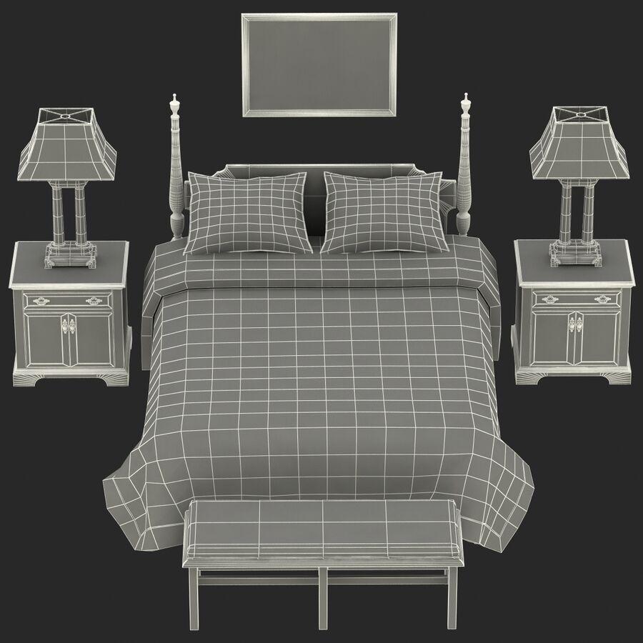 Мебель для спальни royalty-free 3d model - Preview no. 17