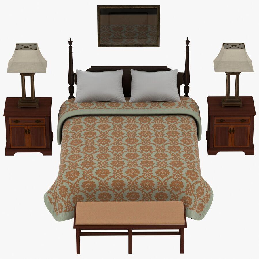 Мебель для спальни royalty-free 3d model - Preview no. 7